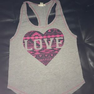 Racer back tank love